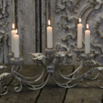5 candle, candle holder french