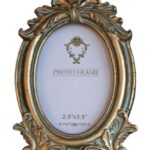 Victorian photo frame gold image 2